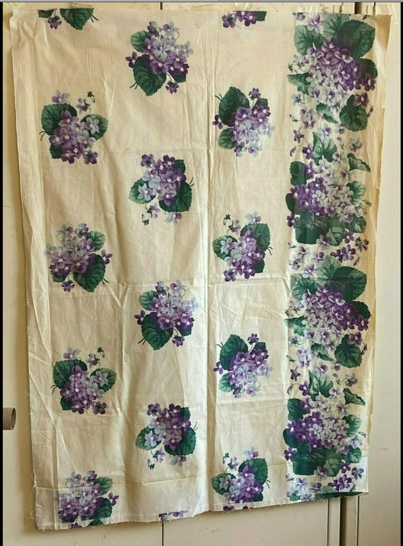 Beautiful 1930s Printed American Cotton Floral Fabric (3197)