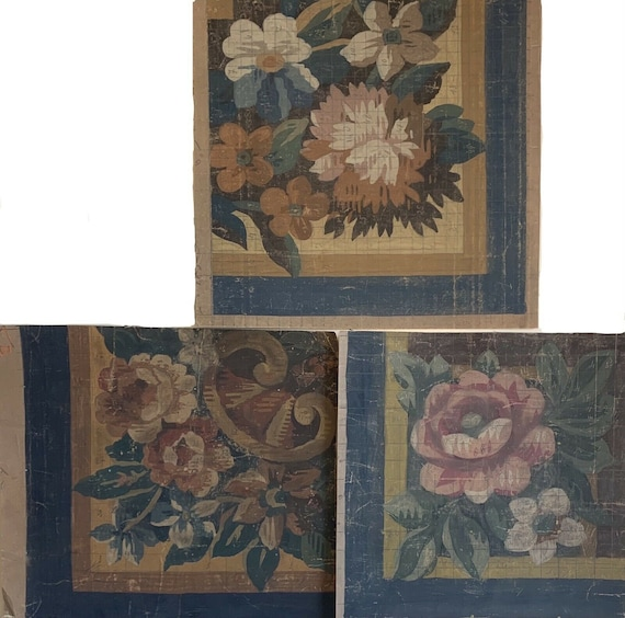3 Charming French paintings for aubusson woven development 5211