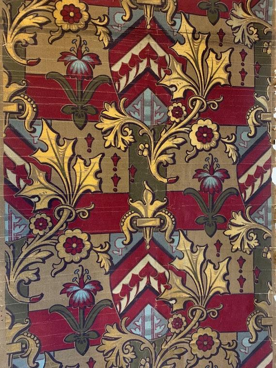 Beautiful Rare 19th Century French Heraldic Wallpaper (3431)