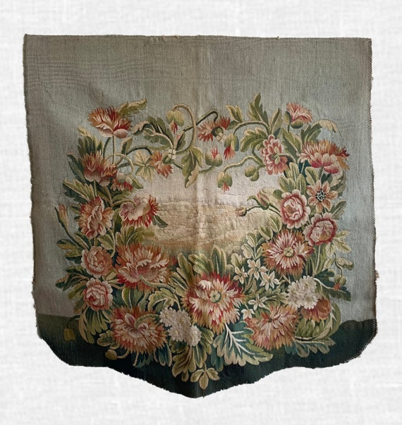 Beautiful Antique 19th Century French Silk & Wool Aubusson Hand Woven (2216)