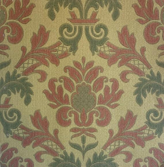 Charming 20th Century French damask design wallpaper 5052