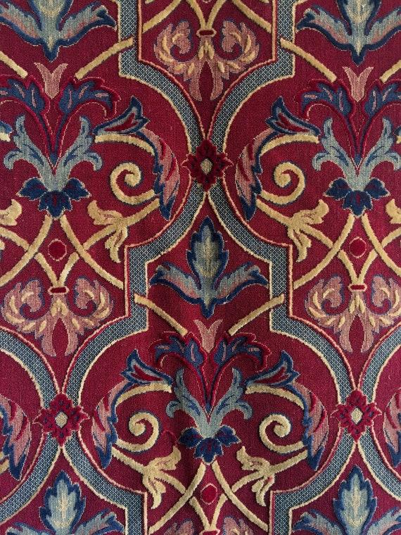 Beautiful 20th C. French Woven Wool Jacquard Fabric (2432)