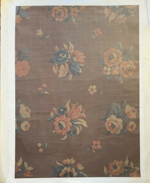 Charming Antique 19th Century French floral textile painting 7626