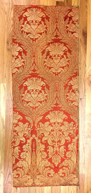 Antique 19th Century French Silk Art Nouveau Woven Damask ( 2041 )