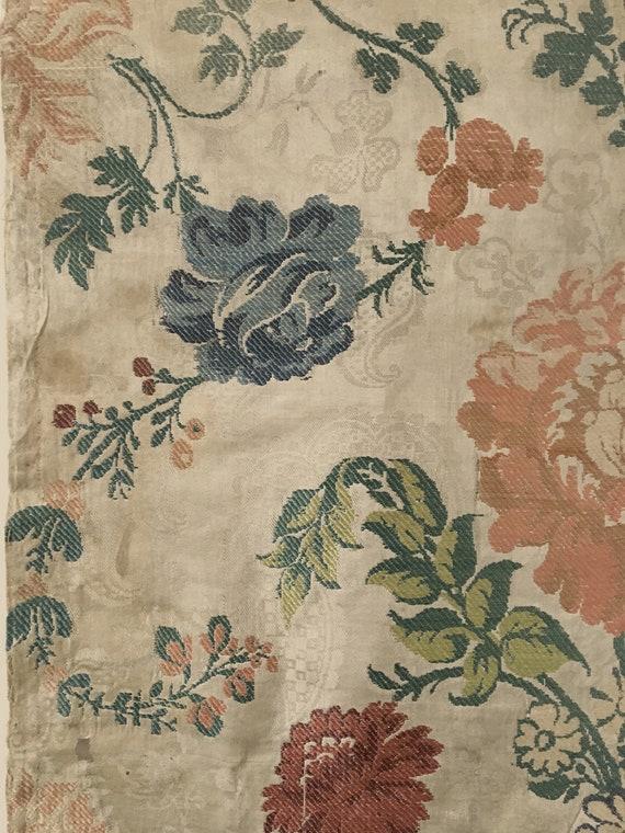 Très belle 18ème Rare brocart de soie tissu tissu tissu (2455) 39d8a2