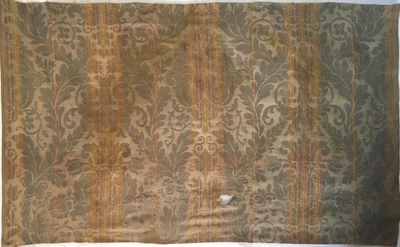 Beautiful 19th C. French Amberline Woven Frame Jacquard Damask Fabric (2421)