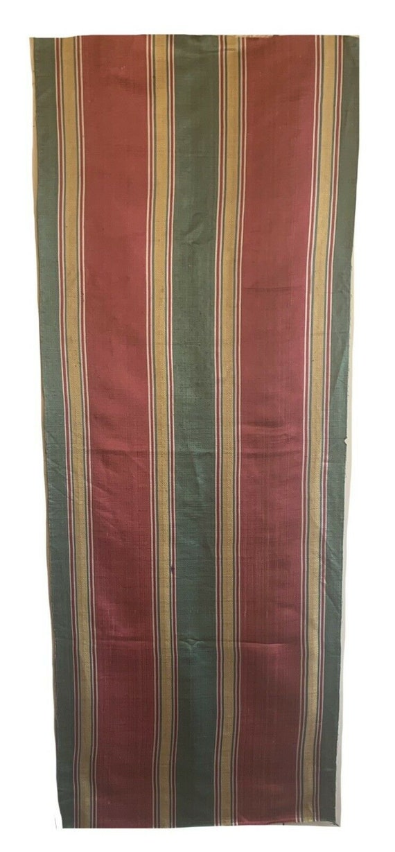Beautiful Rare early 20th Cent French silk stripe fabric 5631