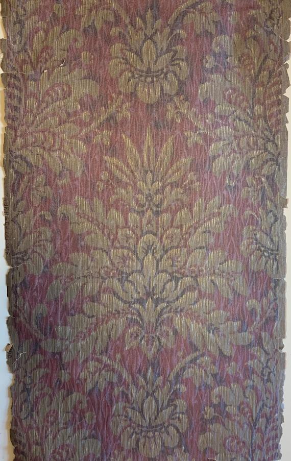 "Beautiful Rare 19th Century French ""Zuber"" Damask Wallpaper (2906)"