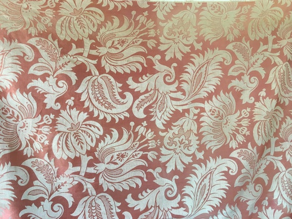Rare Late 19th/ Early 20th C. French Silk Woven Exotic Jacobean Jacquard (2441)