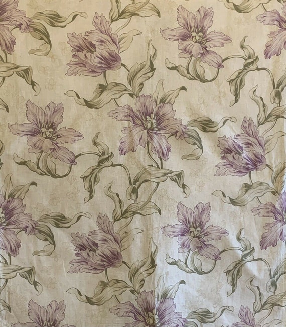 """Beautiful early 20th C. French cotton """"art nouveau"""" printed fabric 5138"""