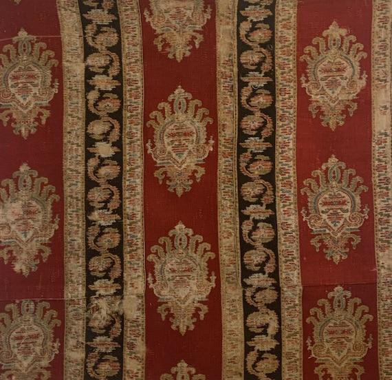 Beautiful 19th Century French wool paisley printed fabric 5121