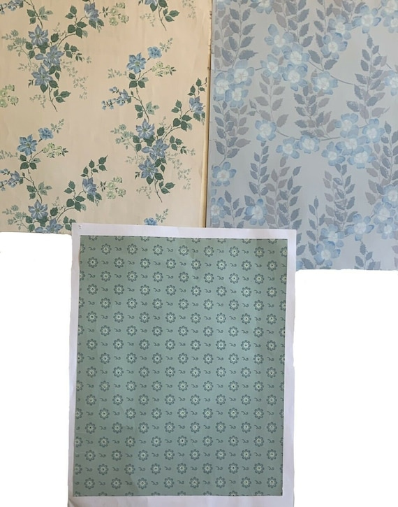 Beautiful 3 20th Cent. French and American wallpaper 5219
