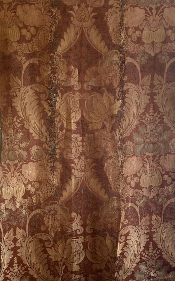 Beautiful rare 19th Century French Silk woven jacquard framed damask 5107