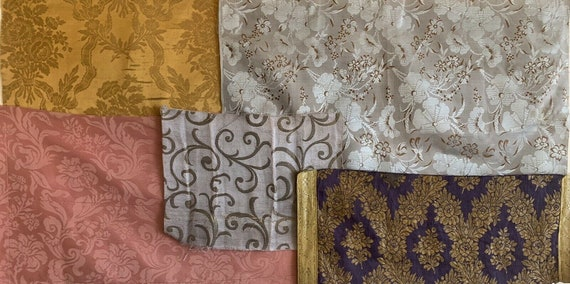 Wonderful group of 5 19th and 20th C. French woven and Portuguese textiles 5245
