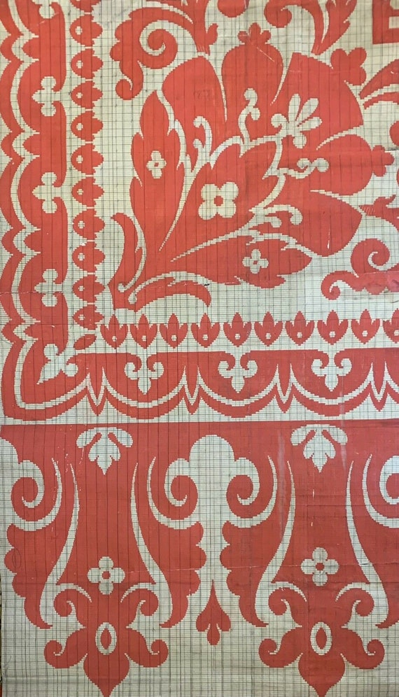 Beautiful early 20th Cent. French painting for carpet development 5062