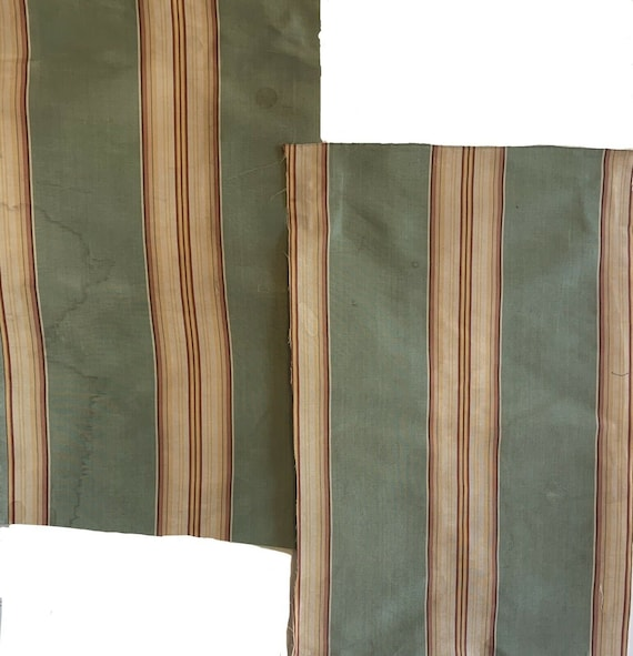Beautiful 2 pieces of 18th Cent. French silk stripes 5102