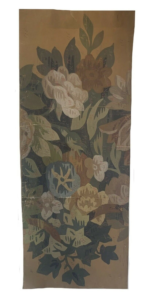 Beautiful 19th Cent French painting for tapestry development 5624