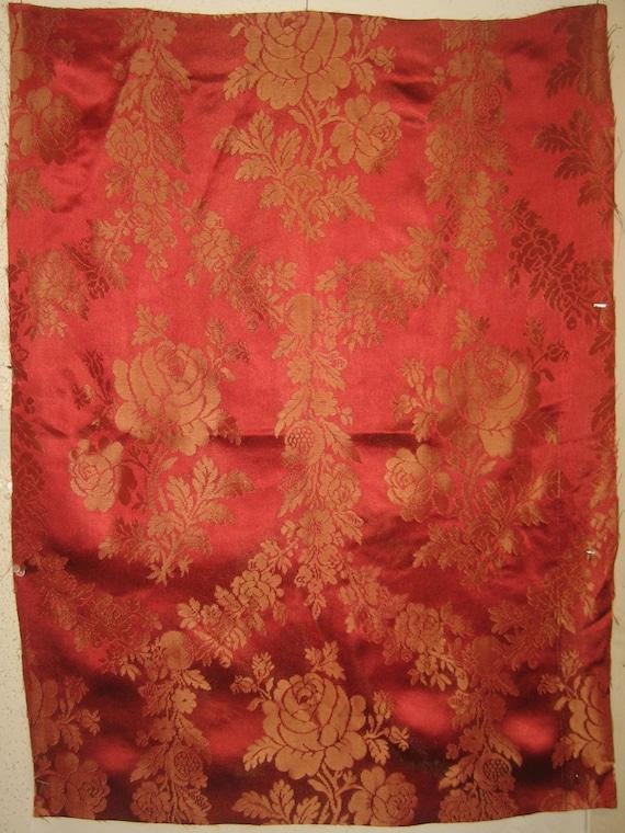 Beautiful Early 20th C. French Silk & Rayon Jacquard Fabric (9240)