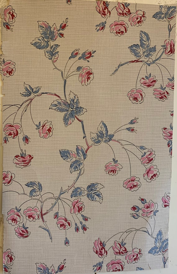 Beautiful Early 20th Century French Floral Wallpaper (Zuber) (3420)