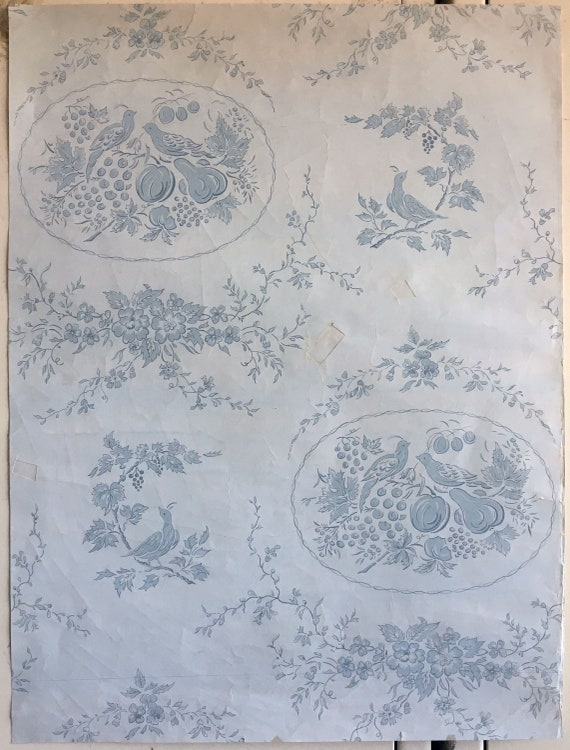 Beautiful Original 20th C. French Toile Conversation Painting (W141)