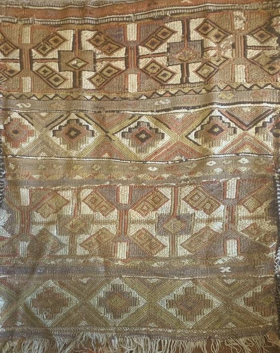 Beautiful 19th Cent. Turkish hand woven wool saddlebag 5300