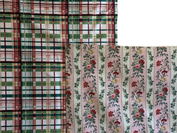 Lovely Antique 19th Century French Floral Cotton printed fabric 5151