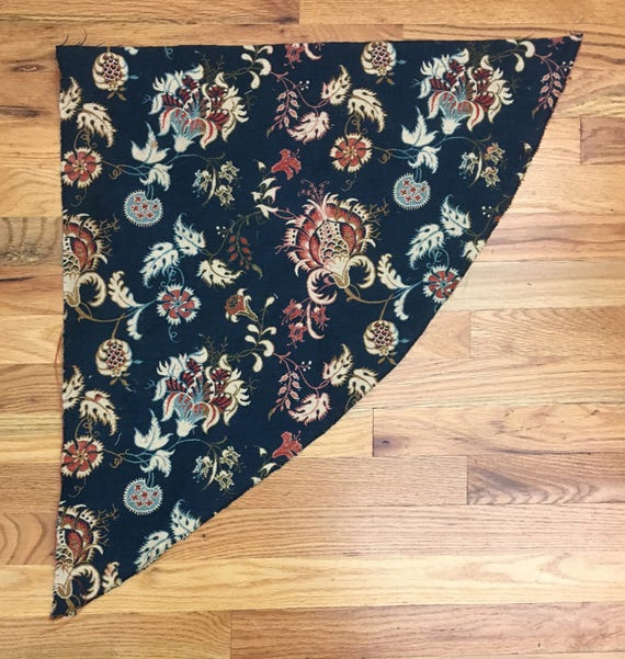 19th Century French Cotton Coven Tapestry with Exotic Floral Motifs