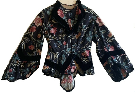 Beautiful rare 19th Cent. French jacket cotton/velvet 5154