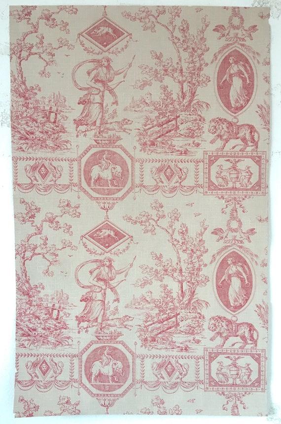 Rare Beautiful 19th Century French Scenic Neo Classic Toile Wallpaper W125