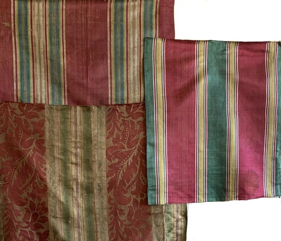 Beautiful Collection of 3 19th Century French silk stripes 5119