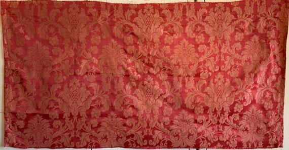 Beautiful Mid 20th Century French Silk Woven Jacquard Fabric (3259)