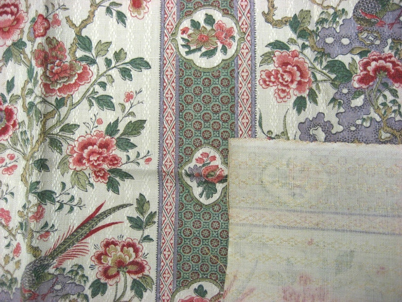 Antique Beautiful 19th c 9912 French striped Chinoise