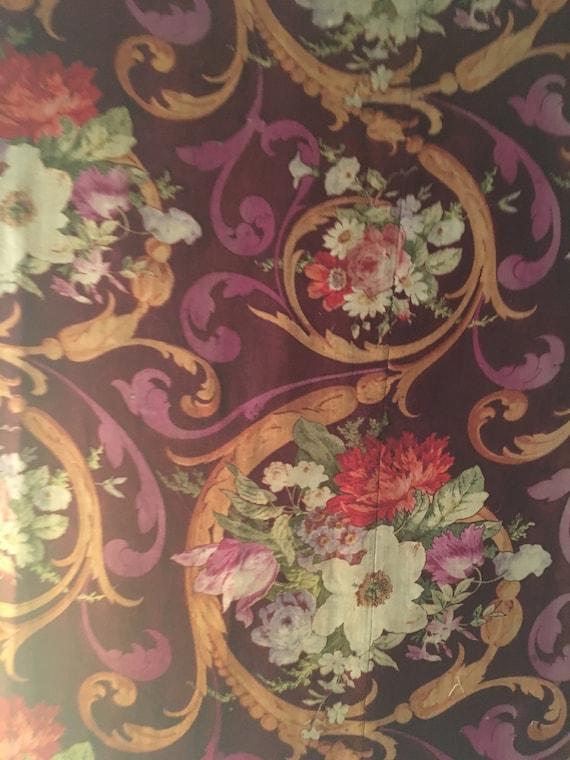 Beautiful 19th C. French Napolean III Wool Challis Fabric (2523)