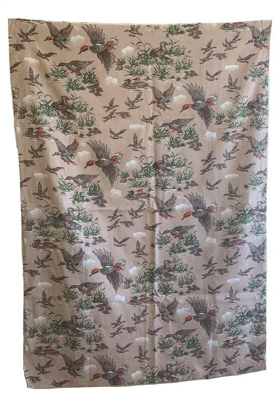 "Wonderful 20th Century American cotton conversational ""duck"" print 5401"