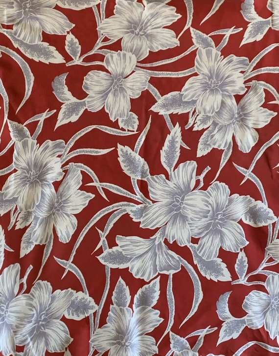 Beautiful mid 20th C. French silk tropical floral fabric 5201