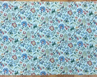 Charming Early 20th Century French Cotton Conversational Print (2081)