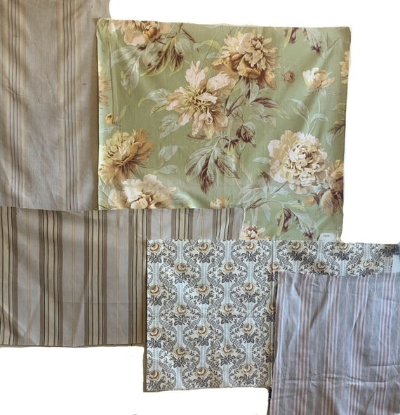 Beautiful Collection of 20th C. French printed and ticking stripe fabrics 5122