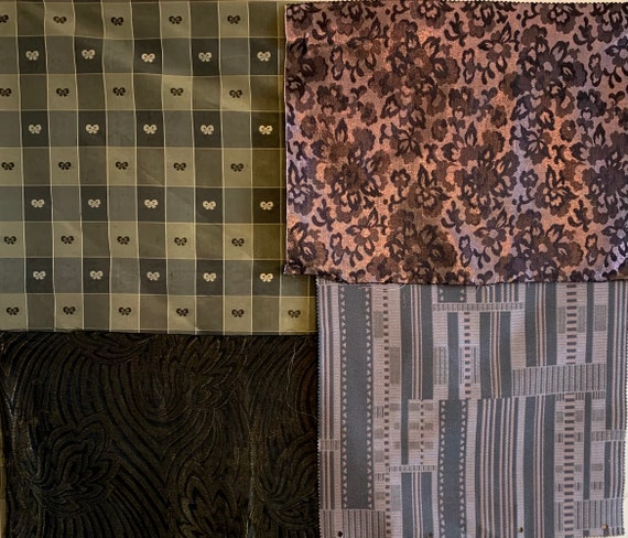 Wonderful Collection Of 4 20th Century French And American Woven Fabrics (2603)