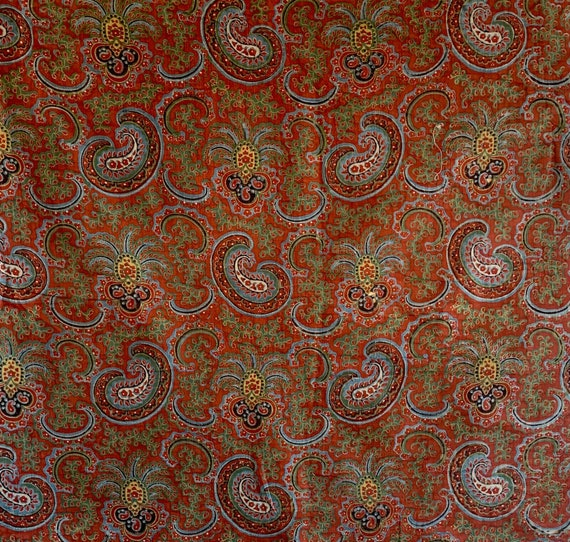 Beautiful 19th Cent. French provencal printed cotton paisley 5103