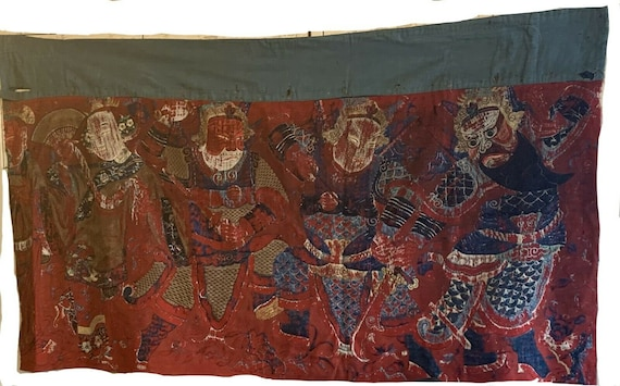 Beautiful Rare Chinese 19th Century Embroidered Woven/silk Conversational Textile 7006