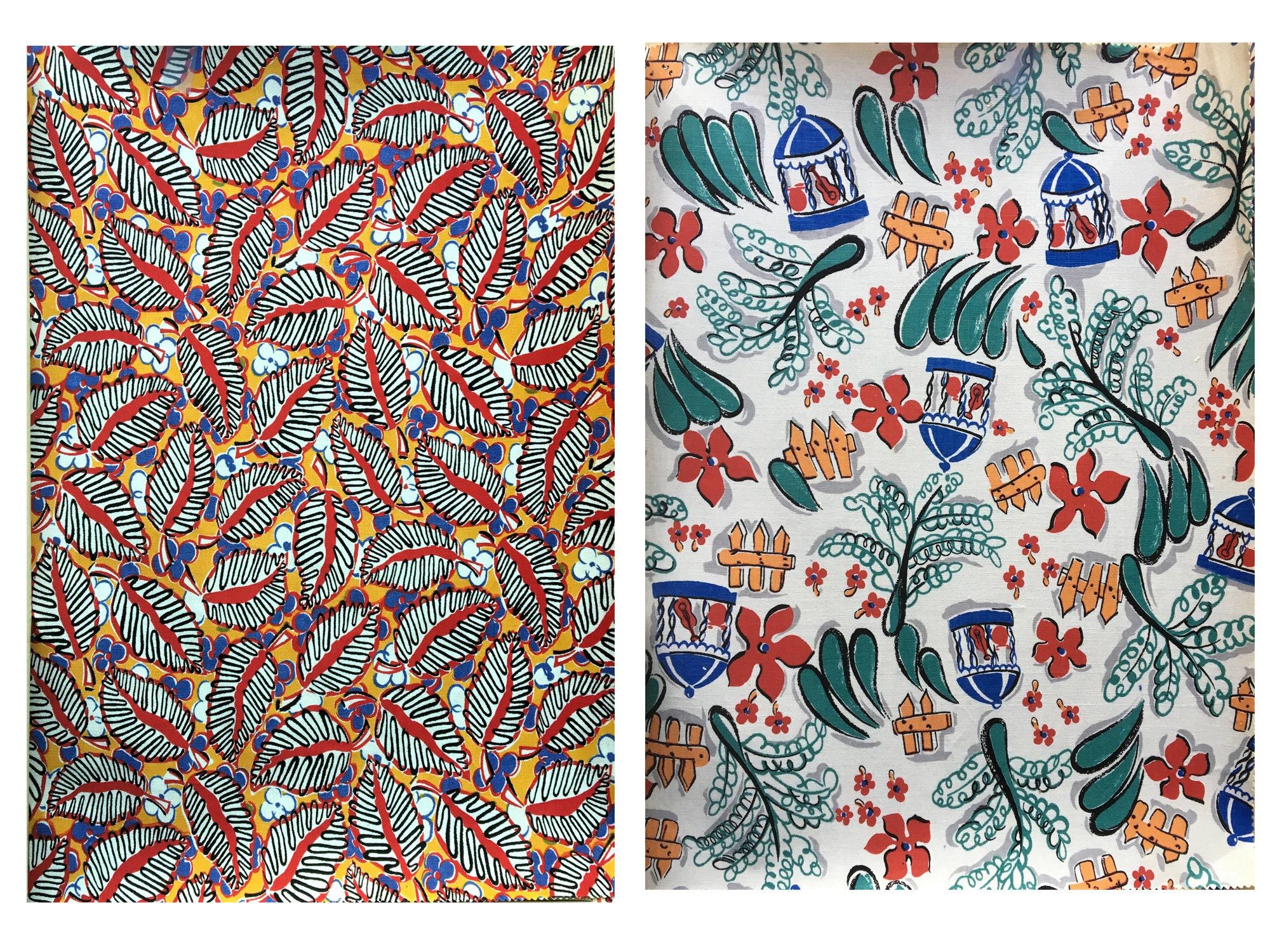 Merveilleux Merveilleux Merveilleux des années 1930 - 1940 ' s imprimé Français coton tissu Collection - (839) 20 dessins 81202b