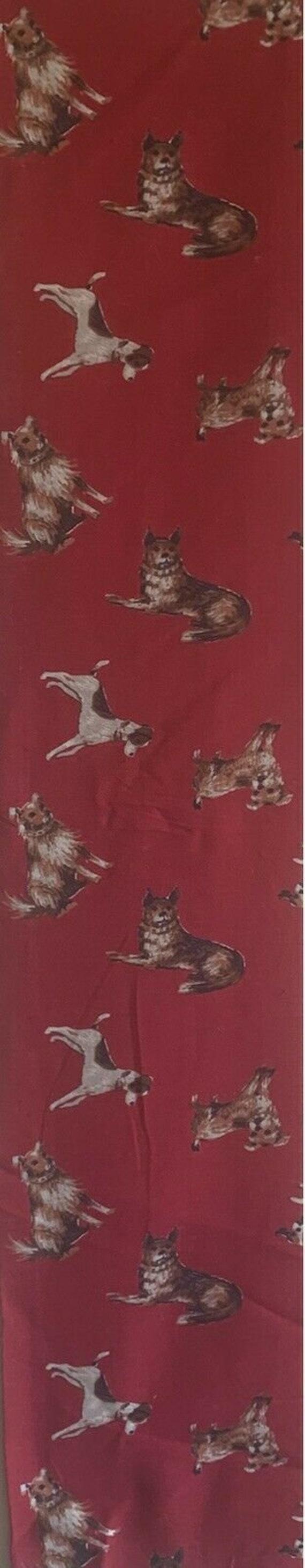 "Charming 20th Cent. American cotton ""dog"" print 5234"