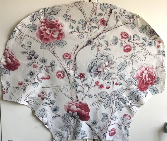 Beautiful 19th C. French Cotton Floral Printed Fabric (2375)
