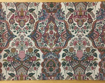 Lovely Vintage French 20th Century Exotic Floral Wallpaper (2123)