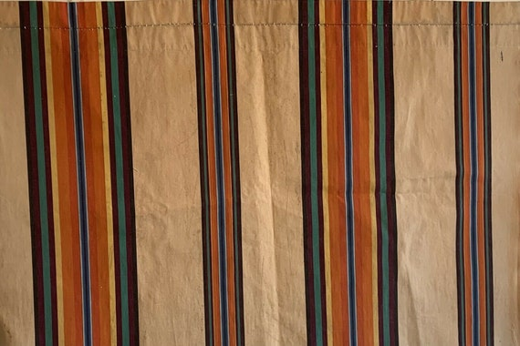 Beautiful 20th Cent. French cotton awning fabric 5202