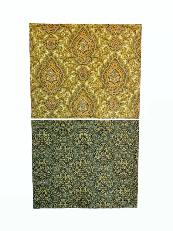 2 Beautiful Mid 20th Century French Paisley Wallpaper (2650)