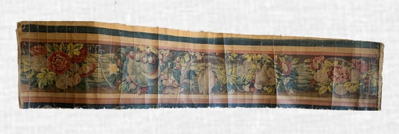 Beautiful Rare 19th Century  French Oil Painted Border For Aubusson Woven Development (2004)
