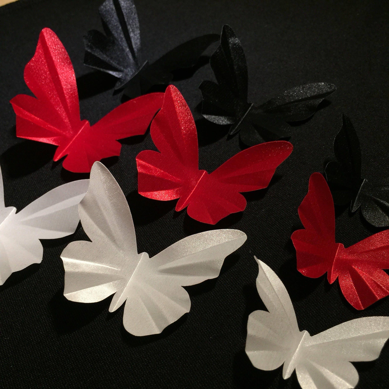3D butterflies 10 pcs fabric butterfly wings Stiff flat BRIDAL   Etsy