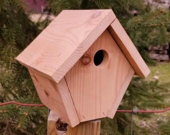 Outdoor birdhouse Decorative birdhouse Wooden birdhouse Wild bird house Garden decor Handmade birdhouse Cedar birdhouses