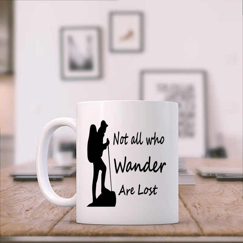 Not all who Wander are Lost Ceramic Camping Coffee Mug image 0